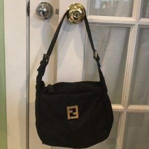 Fendi back nylon shoulder bag